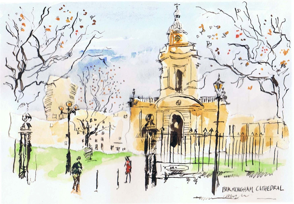 Birmingham Cathedral Illustration