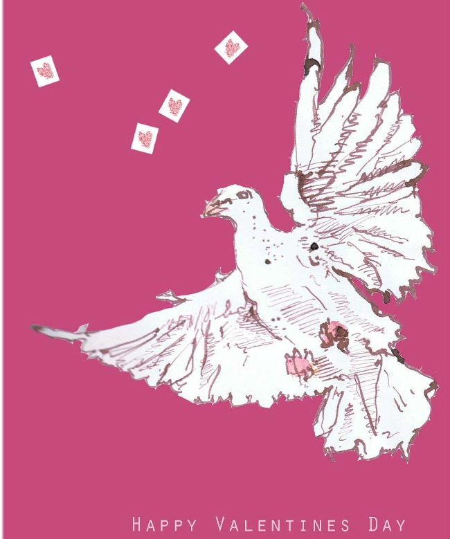 Love dove illustration