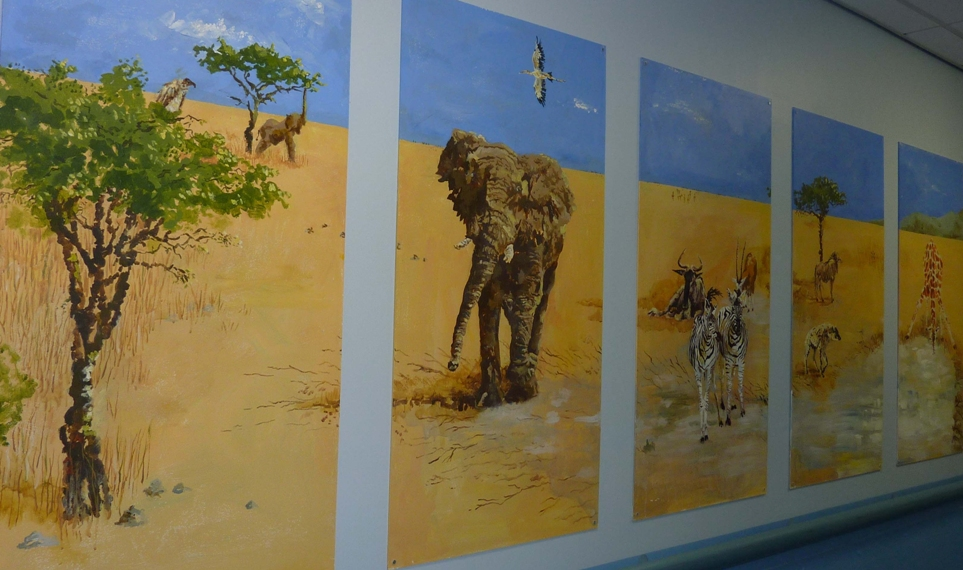 Savanna Landscape Mural Illustration