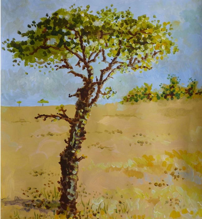 Savanna Tree Illustration