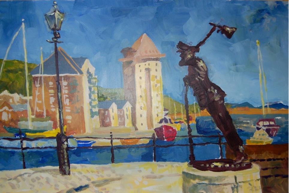 Swansea Marina Illustration
