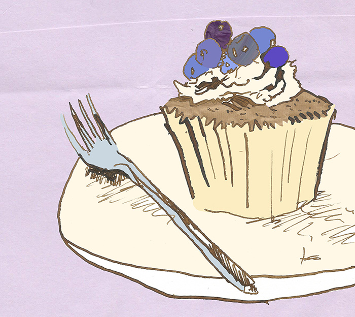 Cupcake Editorial Illustration