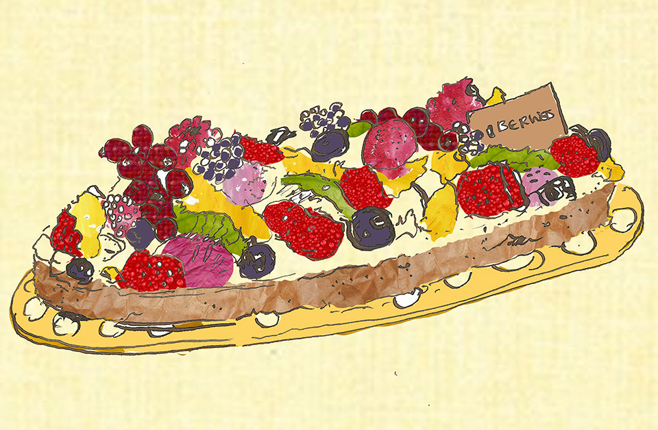 Fruit Tart Advertising Illustration