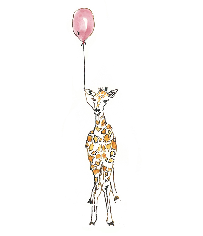 Giraffe Card Illustration