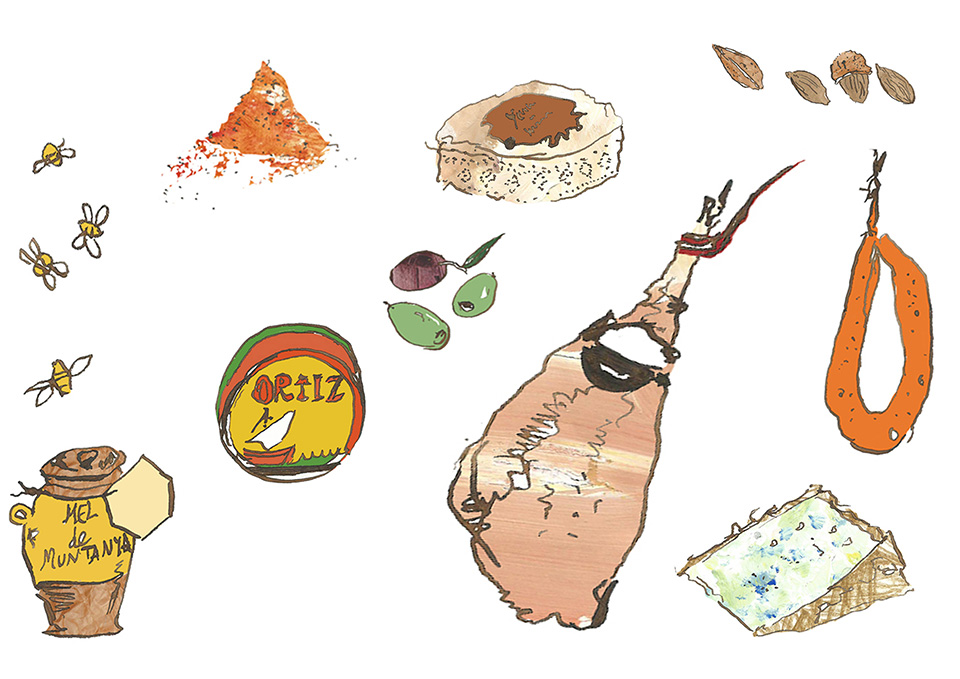 Ham Packaging Illustration