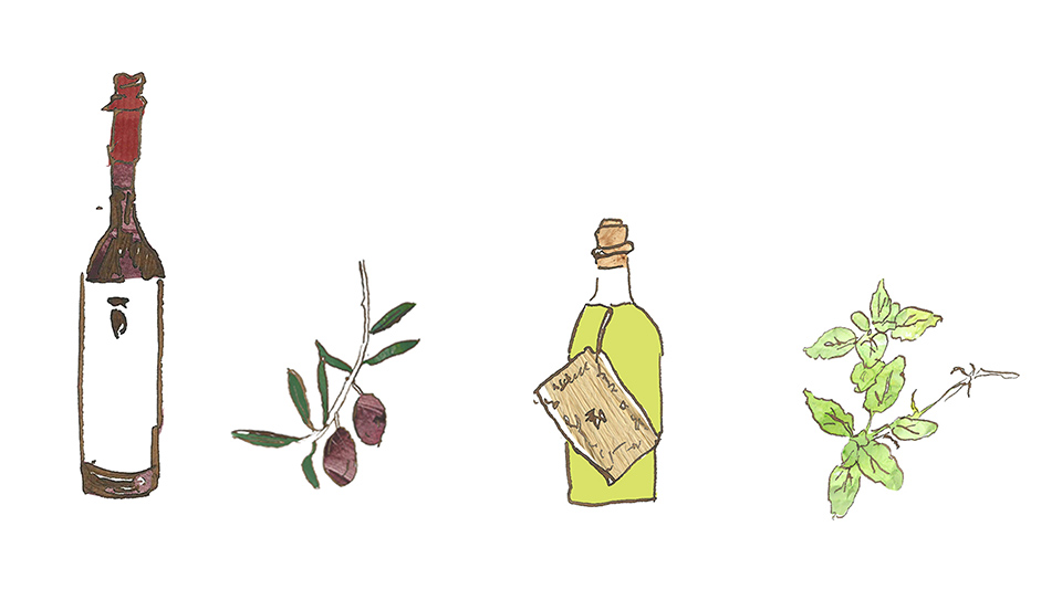 Oil Packaging Illustration