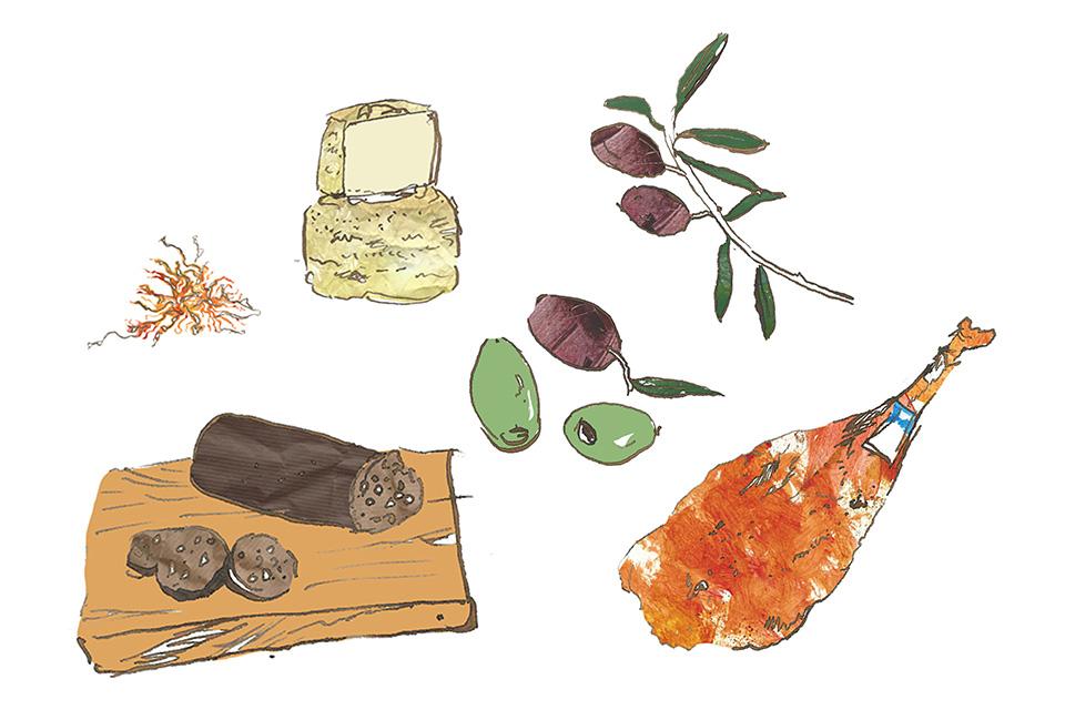 Olives Packaging Illustration