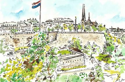 Corniche Card Illustration