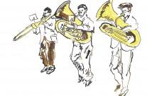 Brass Band Editorial Illustration