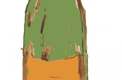Champagne Advertising Illustration