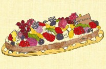 Fruit Tart Advertising Illustration