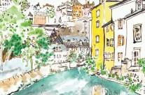 Grund, Alzette river, Luxembourg