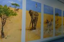 Savanna Landscape Mural Illustration